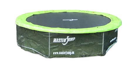 Safety net under trampoline
